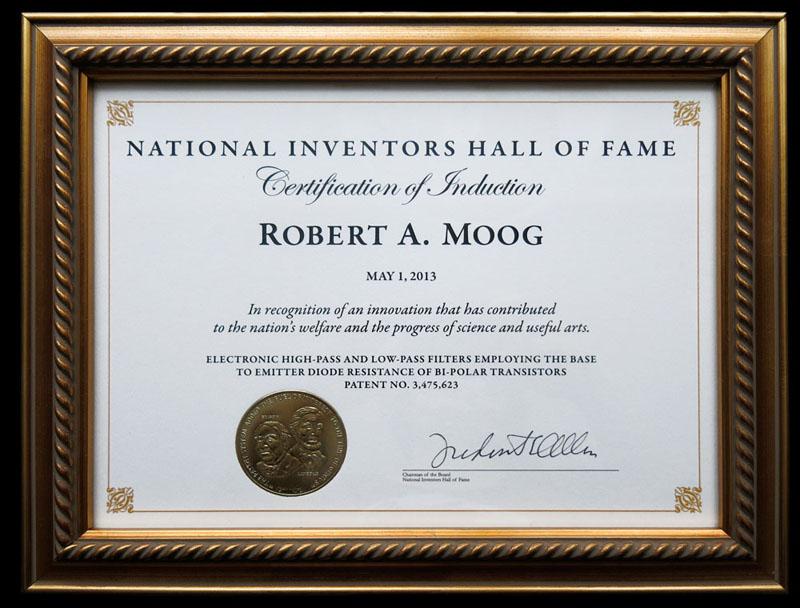 NIHoF Certificate- R-1.A. Moog2-small
