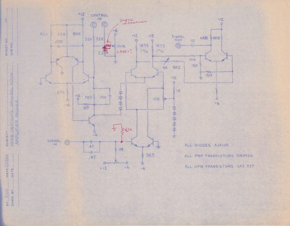 Original VCA Schematic
